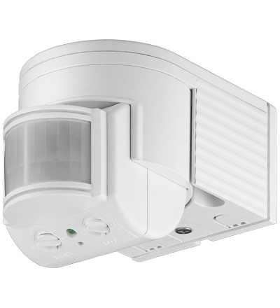 infrarot bewegungsmelder 180 aussen aufputz sensor einstellbar weiss ebay. Black Bedroom Furniture Sets. Home Design Ideas