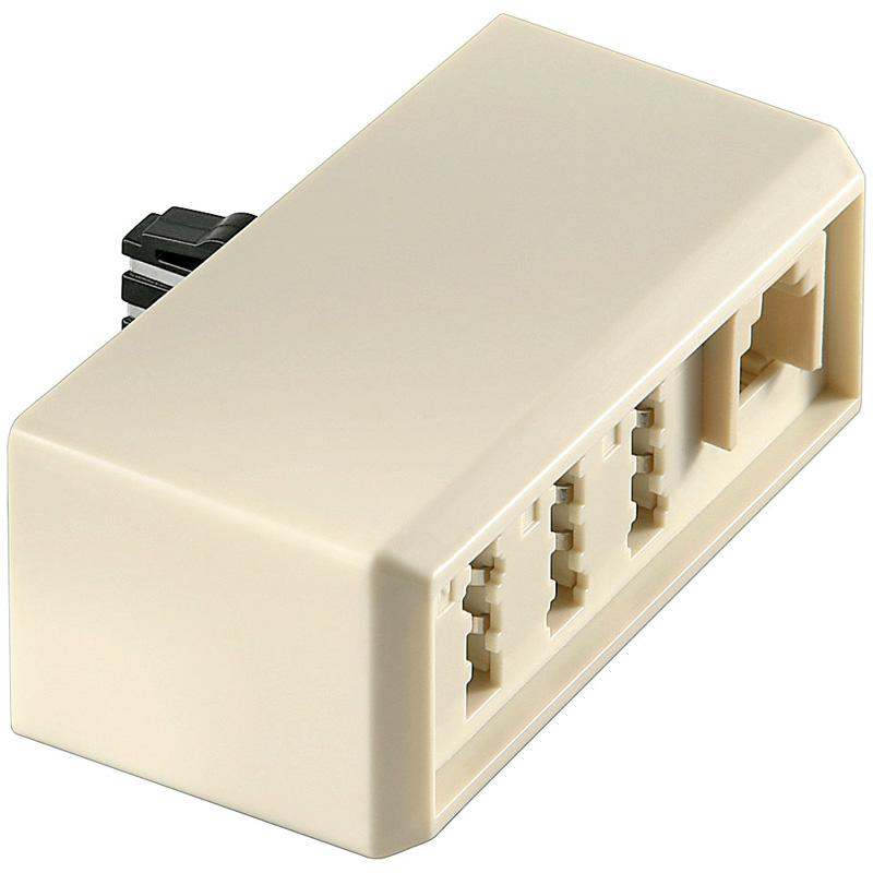 telefon adapter verteiler tae f stecker zu tae nff rj11 buchsen erweiterung kaufen bei. Black Bedroom Furniture Sets. Home Design Ideas