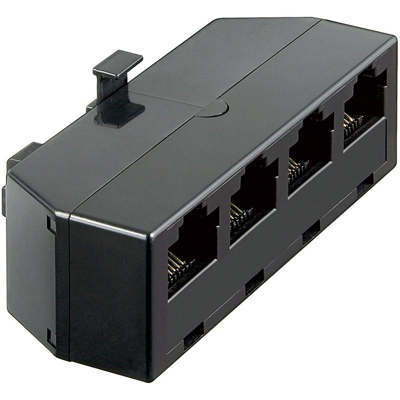 telefon isdn adapter verteiler 4 fach 4x rj45 buchse 1x rj45 stecker von satelliten markt k ln. Black Bedroom Furniture Sets. Home Design Ideas