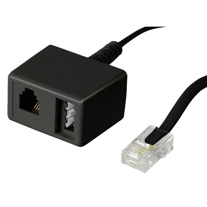 telefon isdn rj4 zu tae n rj11 adapter verteiler weiche 20cm kaufen bei. Black Bedroom Furniture Sets. Home Design Ideas
