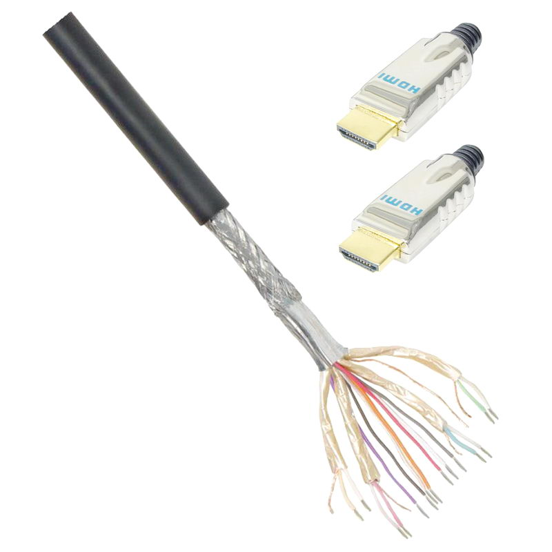 20 m hdmi verlege kabel mit 2 hdmi steckern meterware zur. Black Bedroom Furniture Sets. Home Design Ideas