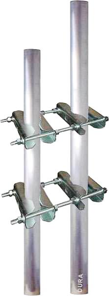 doppel schellen f r mast an mast montage set mit 4 schellen paaren von satelliten markt k ln. Black Bedroom Furniture Sets. Home Design Ideas