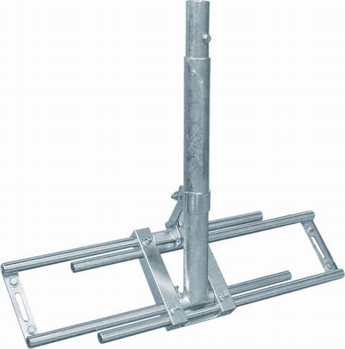 dachsparrenmasthalter mit 100 cm mast dachsparrenhalter. Black Bedroom Furniture Sets. Home Design Ideas