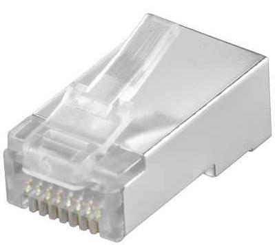 10x netzwerk stecker rj45 f r cat5e cat6 8 polig vollgeschirmt crimp stecker von satelliten. Black Bedroom Furniture Sets. Home Design Ideas