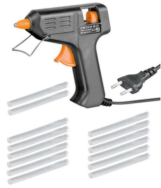 fixpoint heissklebepistole inkl 2 sticks 10 cm lang heisskleber kleber ebay. Black Bedroom Furniture Sets. Home Design Ideas