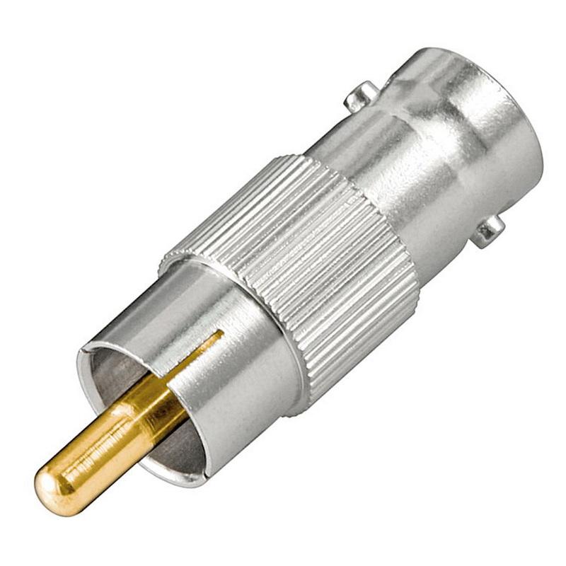 Cinch Adapter-Kabel mit 50 Ohm RG 58 Koaxial Kabel; 2x geschirmt 10 m BNC