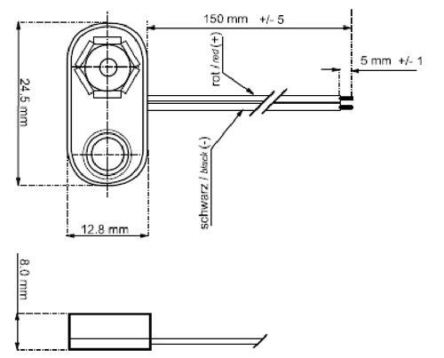 Batterieclip F R 9 Volt Block Batterie T Form Mit