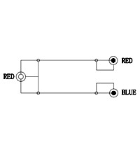 subwoofer y kabel high end mit 2x cinch steckern 20 cm von satelliten markt k ln