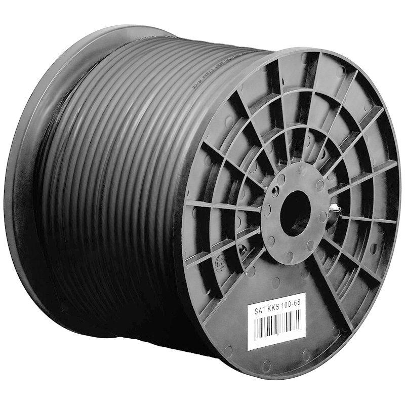 100 m koax kabel schwarz f r aussen und innen erdkabel uv best ndig ebay. Black Bedroom Furniture Sets. Home Design Ideas
