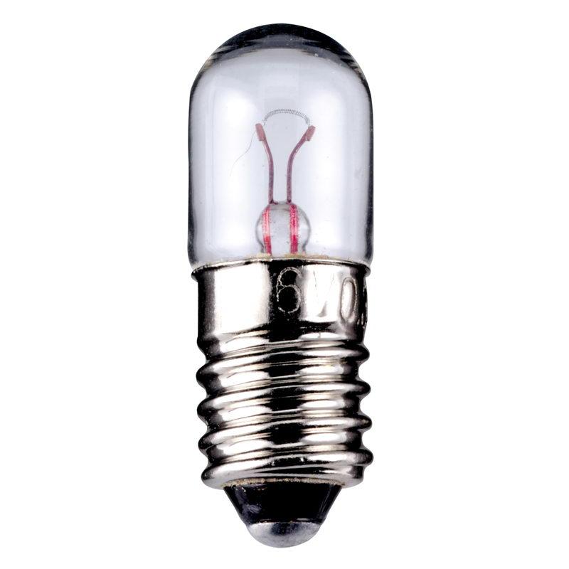 Kleinröhrenlampe 60V 2W Glühlampe E10//13 Birne Signallampe mit Gewinde
